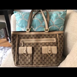 Authentic Gucci Tote VERY used condition